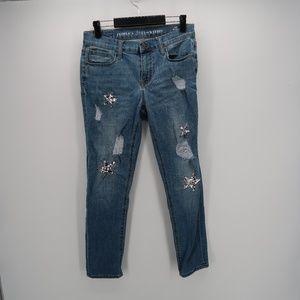 People's Liberation Skinny Distressed Denim Jeans